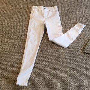 Topshop White Highwaist JAMIE Jeans size 30
